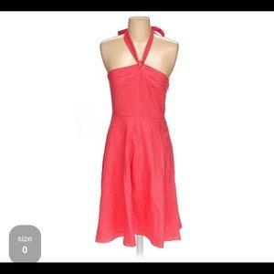 J.Crew Seersucker coral halter dress